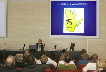momento del corso - relatore Francois Goulet