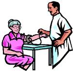 medico che prova la pressione