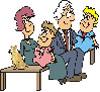 nonni su una panchina con in nipoti