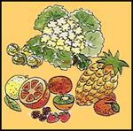 immagine di cibi contenenti potassio
